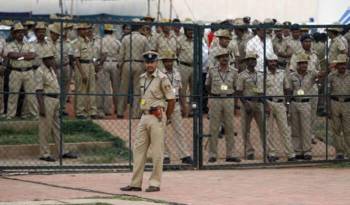 A number of security personnel were deployed at the venue. (Source: PTI)