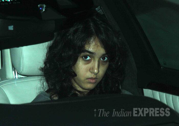 Aamir's daughter Ira, who had recently organised a charity football match with celebs, leaves the venue post screening. (Source: Varinder Chawla)