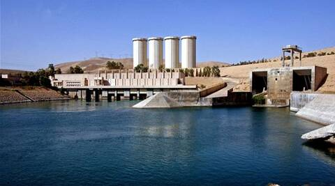 A general view of the dam in Mosul, 360 kilometers (225 miles) northwest of Baghdad, Iraq. (Source: AP)