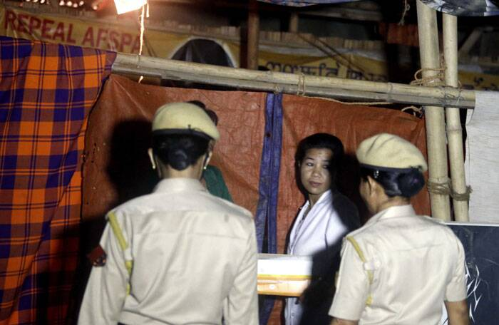 This is the second time that the police had come to take Sharmila. (Source: Express photo by  Deepak Shijagurumayum)
