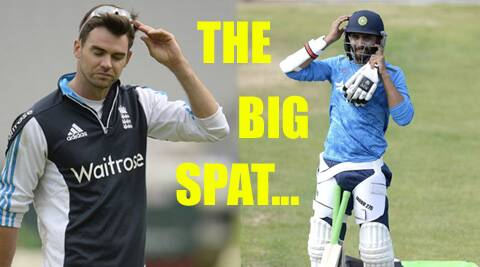 James Anderson and Ravindra Jadeja during a practice session (Source: Reuters)
