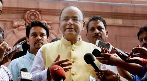 "Without naming Rahul Gandhi, Jaitley said that the ""presiding officer or House must not be dragged into mess"". ( Source: PTI )"