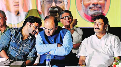 Jaitley at a meeting with intellectuals in Kolkata on Sunday. ( Source: PTI )