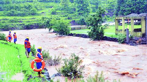 A total of nine teams, comprising 378 NDRF personnel, have been deployed at the site for rescue operations. ( Source: Express photo by Rajesh stephen )