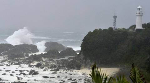 Sea waves break in Kushimoto, western Japan, Sunday, Aug. 10, 2014. (Source: AP)
