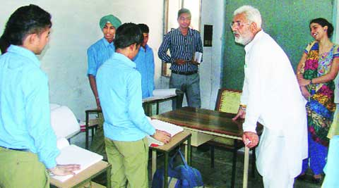 Jayani at the Blind Home in Ludhiana on Tuesday. (Source: Express)