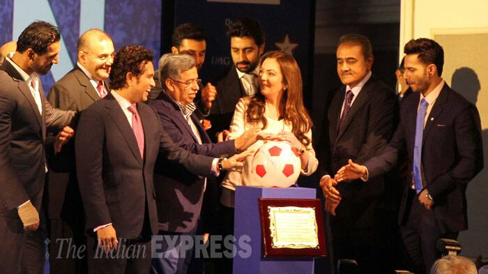 ISL launched to rousing reception but Praful Patel maintains I-League will be the mainstay (Source: Express Photo by Pradeep Kocharekar)