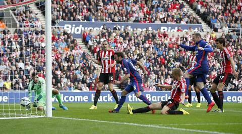 Juan Mata put United ahead in the 17th minute, before Jack Rodwell equalised for Sunderland later in the half. (Source: Reuters)
