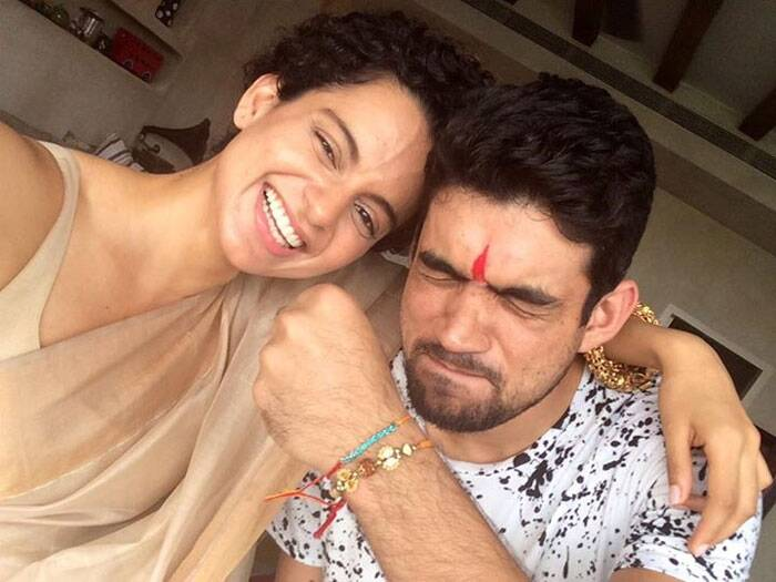 'Queen' actress Kangana Ranaut spent rakshabandhan with her brother Akshit Ranaut. (Source: Facebook)