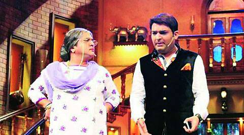 Kapil Sharma with Ali Asgar who reprises the role of Dolly dadi