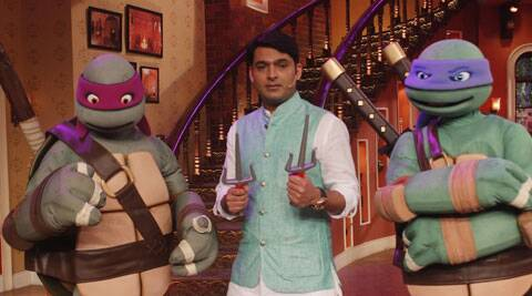 "Kapil Sharma gets Bollywood celebrities as his guests often, but this time, he had two members of Hollywood film ""Teenage Mutant Ninja Turtles"" visit him on the set of his show ""Comedy Nights With Kapil""."