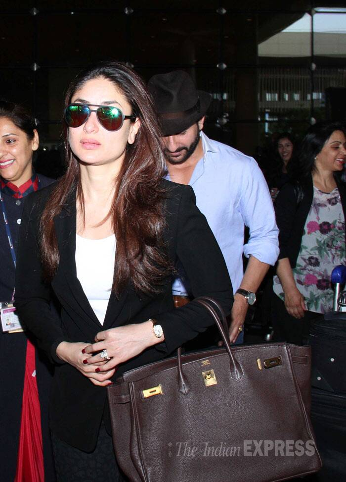 Kareena looked stylish in a blazer with shades and an enviable tote on her arm. (Source: Varinder Chawla)