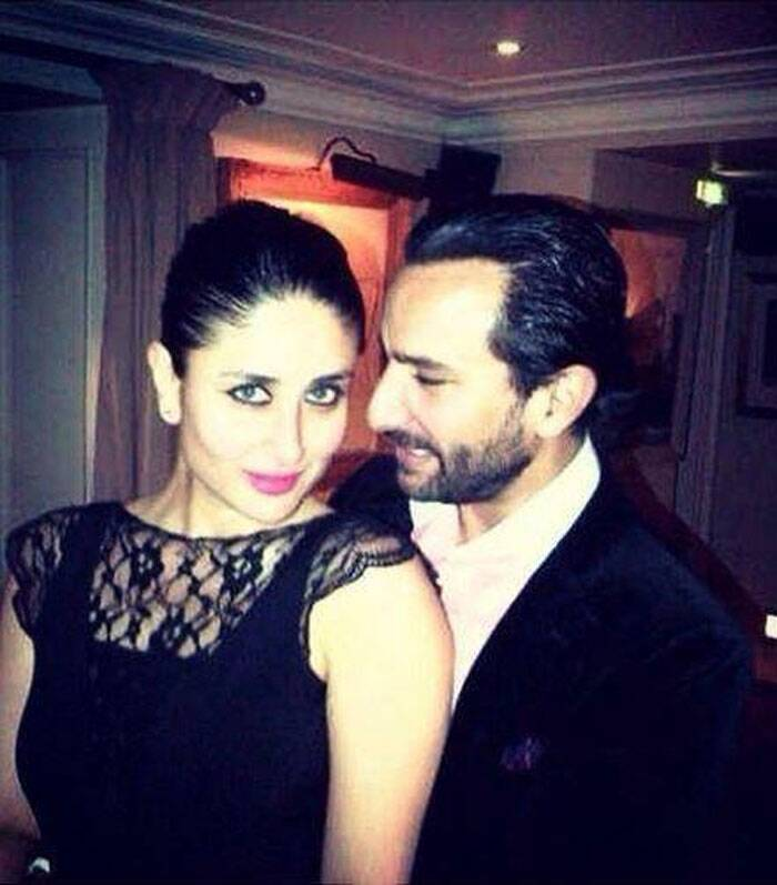 Saif Ali Khan, who turned 44 on August 16, ushered in his birthday with pretty wife Kareena Kapoor in London. Kareena, whose recent release Singham Returns has collected over Rs 50 crores at the box office, took a special off from promotion duties to be with her husband on his special day. (Source: Twitter)