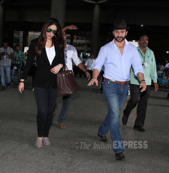 The couple is said to have also met with Saif's daughter Sara who is studying in London. (Source: Varinder Chawla)