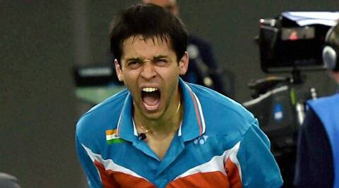 Kashyap was ecstatic after his semi-final win over in the men's singles . (Source: PTI)