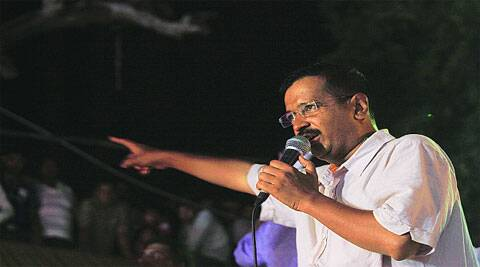 Kejriwal speaks at the rally on Sunday. (Photo: AMIT MEHRA)