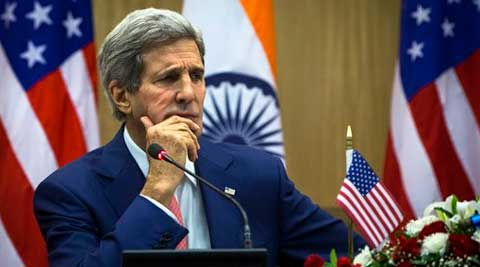 Kerry was addressing reporters in New Delhi where he is meeting Indian leaders to foster bilateral ties. (Source: AP photo)