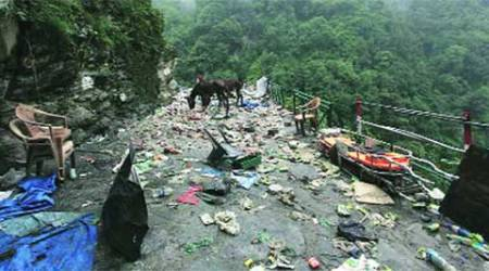 There is no road to Kedarnath after Sonprayag even a year after the calamity.
