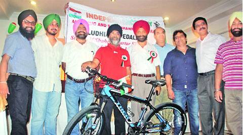 Members of the Ludhiana Pedallers on Wednesday