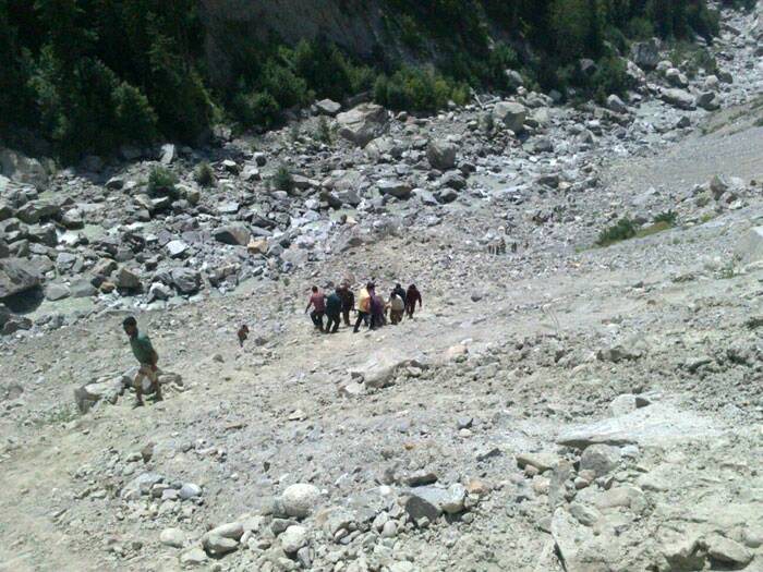 They also said most of the people in the bus were Kinnaur locals and two were labourers from Bihar. (Source: Express photo by  Abhimanyu Chakravorty)