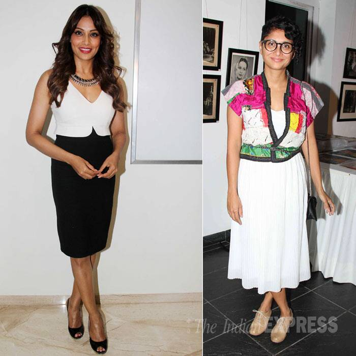 Bollywood celebrities Bipasha Basu and Kiran Rao had a busy day. While Bipasha attended the trailer launch of her upcoming film, 'Creature', Aamir Khan's talented wife Kiran Rao was spotted at an exhibition. (Source: Varinder Chawla)
