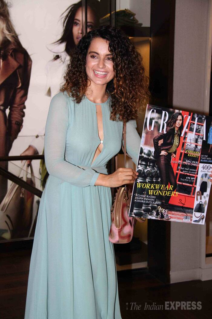 The actress with maggie hair poses with the magazine cover. (Source: Varinder Chawla)