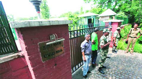 The man was found dead in Selja's house on Motilal Nehru Marg on Monday.