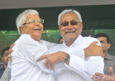 Political enemies, Lalu Prasad and Nitish Kumar set aside their differences to take on the resurgent BJP.
