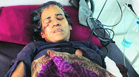 Kamla Negi in hospital.