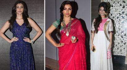 Soha, Daisy, Tanisha at LFW 2014