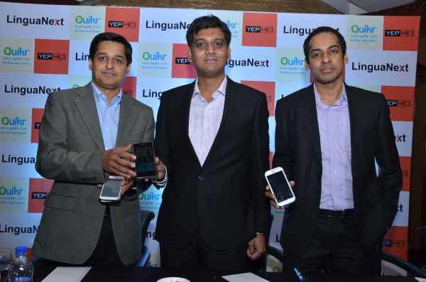 LinguaNext's 'Linguify.Mobile' Powers Quikr and Yepme Mobile Apps in Hindi