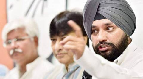 Congress leaders Haroon Yusuf, Mukesh Sharma and K C Mittal were also part of the delegation. (Source: PTI photo)