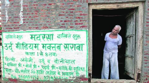 An advertisement of a private madrasa on a wall, in Sarawa village of Meerut. Source: Ravi Kanojia