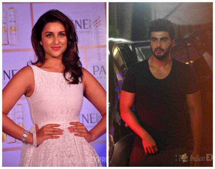 'Ishaqzaade' Parineeti Chopra and Arjun Kapoor were spotted in the city at separate locations. While Parinneti attended a promotional event, Arjun was seen at suburban Juhu.