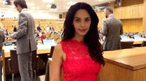 Mallika Sherawat discusses women's rights at UN