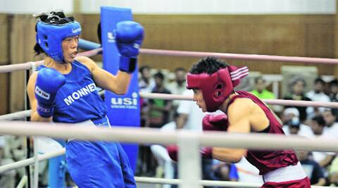 Three months after she lost to Pinki Jangra in the Commonwealth Games trials, Mary Kom is back in the ring to prove a point (Source: Express Photo by Jasbir Malhi)