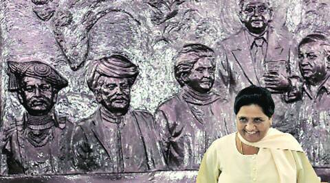 BSP chief Mayawati at a press conference in New Delhi on Sunday. (Ravi Kanojia)