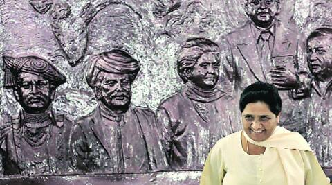 BSP chief Mayawati at a press conference in New Delhi on Sunday. ( Source: Express photo by Ravi Kanojia )