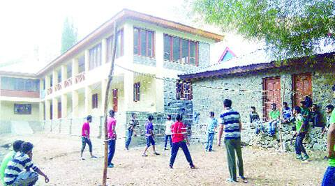 Boys at play at one of Boudgam's three schools.  (Express)