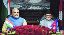 India, Nepal sign 3 deals, put off powerpact