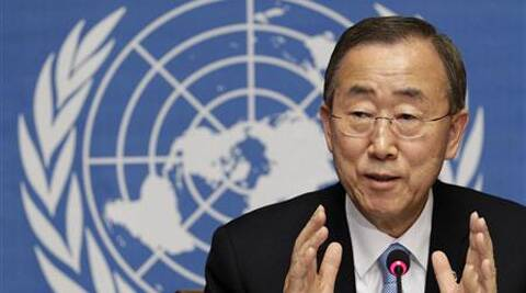 UN Chief Ban Ki-moon released a book 'Indian War Memorials of the First World War' that containsoverview of the many battlefields where Indian soldiers made the ultimate sacrifice. (Source: Reuters)
