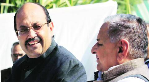 In good old days: Amar Singh and Mulayam.