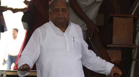 SP chief Mulayam Singh Yadav at the Parliament. (Source: Express Photo by Prem Nath Pandey)