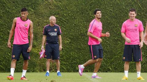 Neymar, Suarez and Messi, Barca sure have a lethal strike force this season (Source: Reuters)