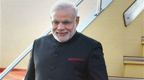 Prime Minister Narendra Modi arrives at Osaka airport in Japan on Saturday. (Source: PTI)