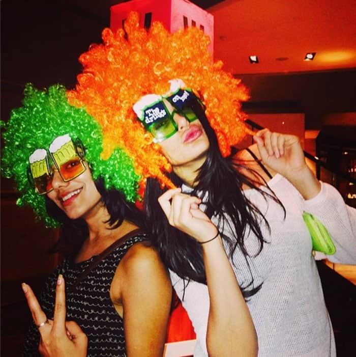 Nargis Fakhri is in party mood.