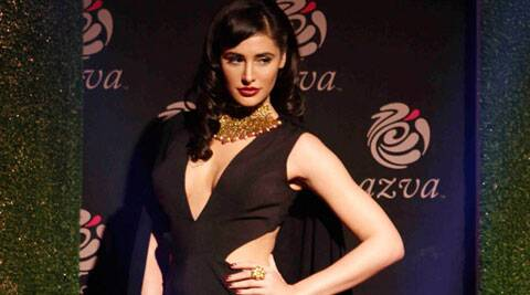 Nargis Fakhri suffered a minor wardrobe malfunction on the ramp at the ongoing Indian Bridal Fashion Week.