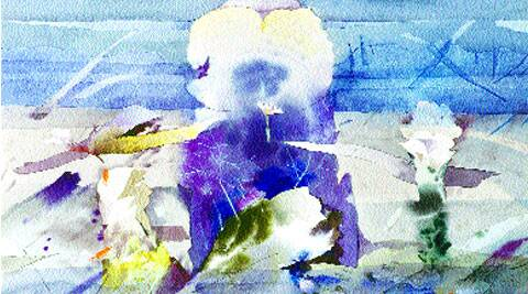 Untitled watercolour works by Bimal Dasgupta