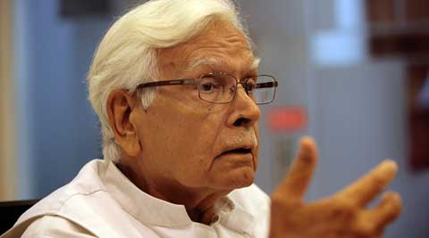 Former foreign minister Natwar Singh believes that PM Modi has a vision. (Source: Express Photo by Ravi Kanojia)