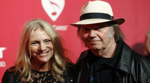 Neil and Pegi Young were supposed to be appearing together at another charity event. (Source: Reuters)